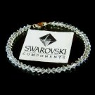 Swarovski Crystal Simple Bridal Sterling Silver Bracelet