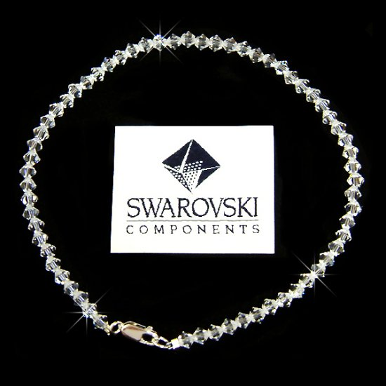 Swarovski Crystal Simple Elegant Bridal Anklet