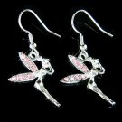 Pink Swarovski Crystal Tinkerbell Tinker Bell Fairy Earrings