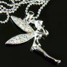Clear AB Tinkerbell Fairy Swarovski Crystal Necklace