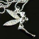 Clear AB Tinkerbell Fairy Swarovski Crystal Necklace