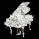 Swarovski Crystal Grand Piano Brooch