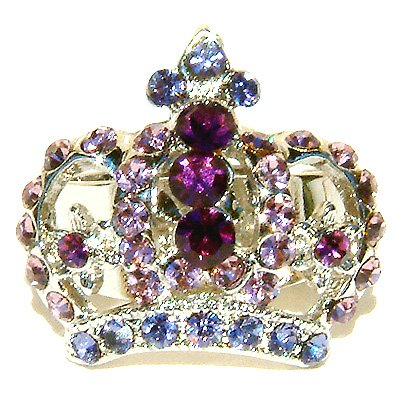 Juicy Purple Crown Swarovski Crystal Ring