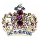 Juicy Purple Crown Swarovski Crystal Ring