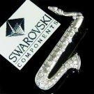 Swarovski Crystal Alto Bass Tenor Saxophone Music Band Brooch