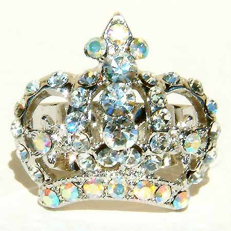 Clear Crown Swarovski Crystal Ring