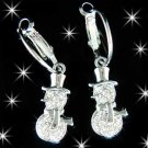 Swarovski Crystal Holiday Christmas Snowman Earrings