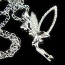 Huge Flying Tinkerbell Swarovski Crystal Necklace