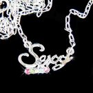 'Sexy' Word Hot Girl Lady Woman Swarovski Crystal Necklace