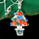 Christmas Tree Star Ornaments Holiday Swarovski Crystal Necklace
