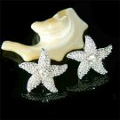 Starfish Swarovski Crystal Earrings for Beach Wedding Bride