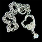 Swarovski Crystal Dangle Heart Bracelet