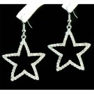 Big Cutout Star Prong-Set Swarovski Crystal Earrings