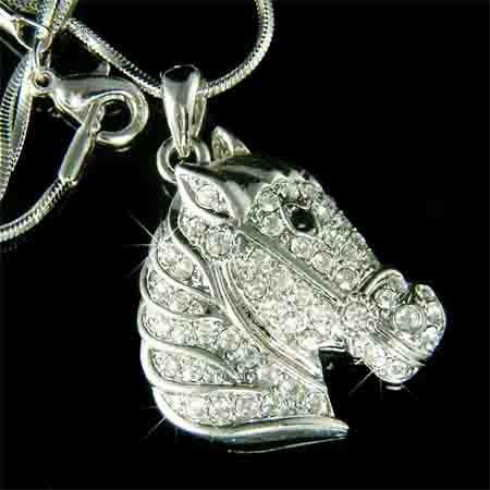 Swarovski Crystal Western Handsome Horse Pendant Necklace