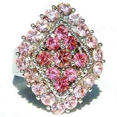 Pink Diamond Swarovski Crystal Cocktail Ring