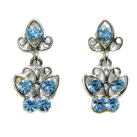 Something Blue Butterfly Swarovski Crystal Stud Earrings