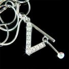Triangle Striker Percussion Drums Swarovski Crystal Necklace