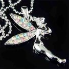Rainbow Tinkerbell Pixie Swarovski Crystal Necklace