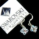 Floating Star Swarovski Crystal Bridal Earrings