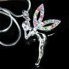 Rainbow Fairy Tinkerbell Pixie Swarovski Crystal Necklace