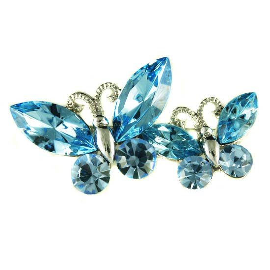 Something Blue Butterfly Friends Swarovski Crystal Brooch