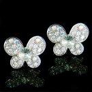 Clear Bridal Wedding Swarovski Crystal Butterfly Stud Earrings