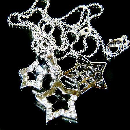 Clear Triple Star Swarovski Crystal Necklace