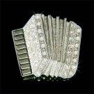 Traditional Classy Accordion Swarovski Crystal Brooch