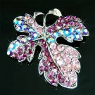 Swarovski Crystal Purple Fall Maple Leaf Christmas Brooch