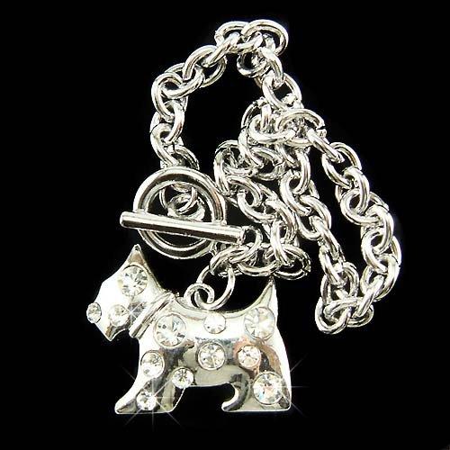 Scottish Terrier Westie Dog Swarovski Crystal Toggle Bracelet
