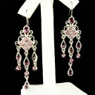 Swarovski Purple Crystal Chandelier Bridesmaid Earrings