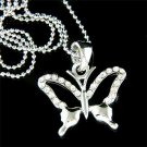 Swarovski Clear Crystal Simple Butterfly Pendant Necklace