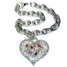 Swarovski Crystal Filigree Rainbow Love Heart Bracelet