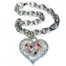 Swarovski Crystal Filigree Rainbow Love Heart Bracelet