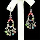 Rainbow Swarovski Crystal Chandelier Earrings