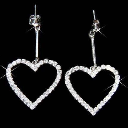 Elegant Swarovski Clear Prong Set Crystal Modern Bride Earrings