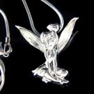 Tinkerbell Fairy Pixie  Swarovski Crystal Pendant Necklace