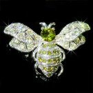 Christmas Green Swarovski Crystal Cute Insect Bumble Bee Brooch