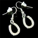 Western Bride Swarovski Crystal Dangle Horseshoe Earrings