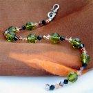 Swarovski Crystal Earthy Garden Fall Sterling Silver Bracelet