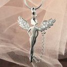 Swarovski Crystal Tinkerbell Fairy Pixie with Chain Necklace
