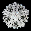 Beach Wedding Swarovski Crystal Flower Coral Bouquet Brooch