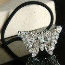 Swarovski Crystal Filigree Butterfly Ponytail Holder Hair Band