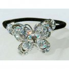 Swarovski Crystal Bridal Butterfly Ponytail Holder Hair Band