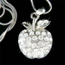 Delicious Juicy Apple Swarovski Crystal Pendant Chain Necklace