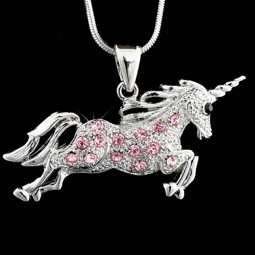 Mythology Single-horned Horse Swarovski Crystal Unicorn Necklace