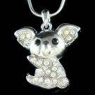 Swarovski Crystal Aussie Australian Koala Bear Pendant Necklace