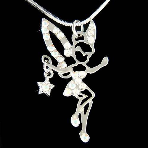 Tinkerbell Swarovski Crystal Tink Fairy Pixie Dust Star Necklace