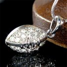 Sport Team Swarovski Crystal American Football Pendant Necklace