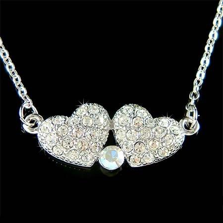 Swarovski Crystal Family Friends Lover Sexy Heart Love Necklace